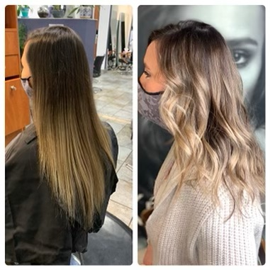 before and after long hair