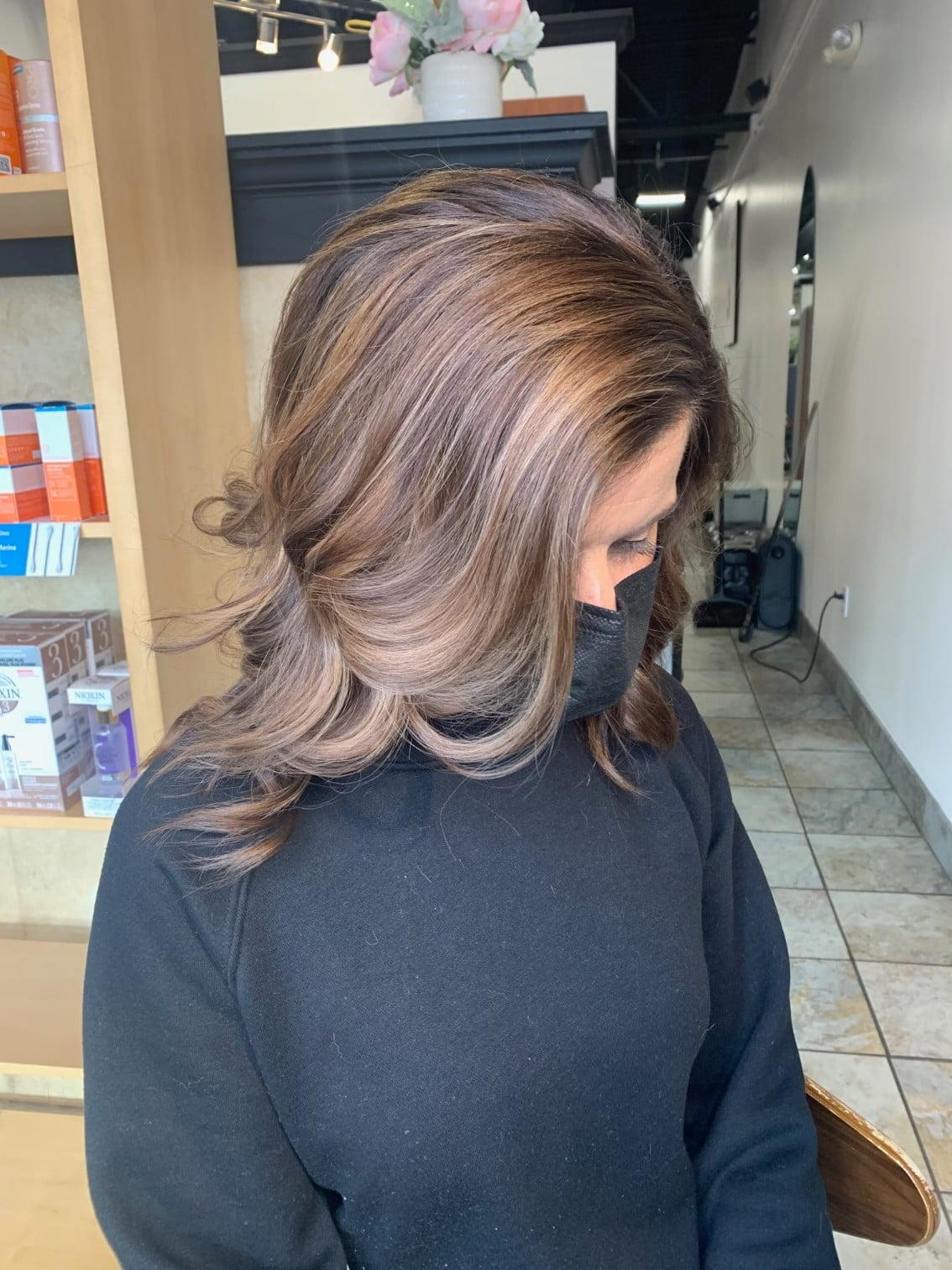 Ania Hair Salon_ highlighted brown hair